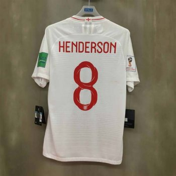 NIKE ENG 2018 (H) VAPOR MATCH S/S 893870-100 w/ NAMESET (#8 HENDERSON) + WORLDCUP BADGE