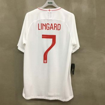 NIKE ENG 18 (H) SS STADIUM JSY 893868-100 w/ NAMESET (#7 LINGARD) + WORLDCUP BADGE