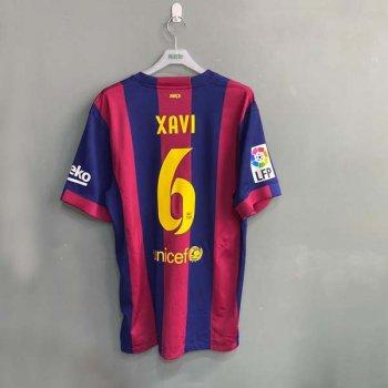 NIKE FC BARCELONA 14/15 (H) S/S STADIUM JSY 610594-422 w/ NAMESET (#6 XAVI)