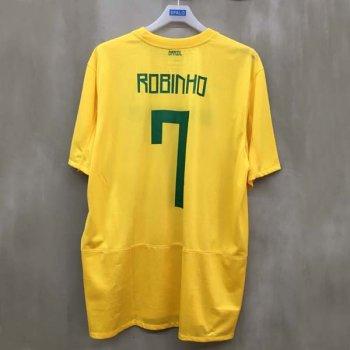 BRAZIL 11 (H) S/S JSY 405504-703 w/ NAMESET (#7 ROBINHO)