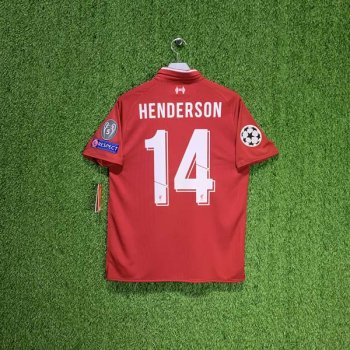 NB LFC 18/19 (H) S/S JSY MT830000 w/ NAMESET (#14 HENDERSON) + UCL BADGE