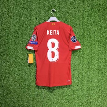 NB LFC 19/20 HOME ELITE EURO SS JERSEY MT930031 w/ NAMESET (#8 KEITA) + UCL BADGE