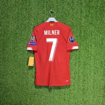 NB LFC 19/20 HOME ELITE EURO SS JERSEY MT930031 w/ NAMESET (#7 MILNER) + UCL BADGE