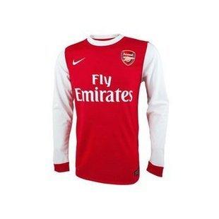 Nike Arsenal 10/11 (HOME) L/S JSY 386822-620w/ NAMESET (#7 ROSICKY)