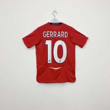 UMBRO ENGLAND 2008 (A) KIDS JSY w/ NAMESET (#10 GERRARD)