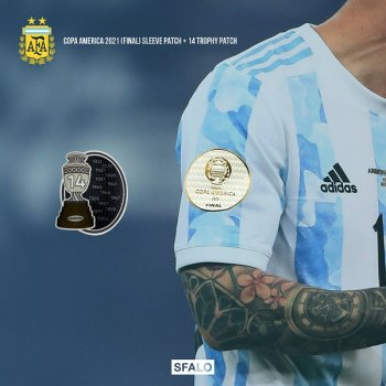 COPA AMERICA ARGENTINA 2021 SLEEVE PATCH (FINAL) + 14 TROPHY PATCH (PRE-ORDER)