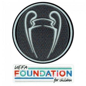 21-22 UCL Titleholder Trophy + UEFA Foundation Patch Set