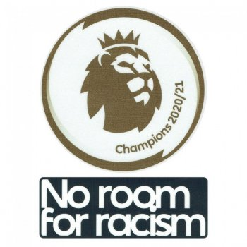 20-21 Premier League Champions + No Room For Racism Players Patch Set
