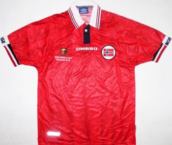 1998 Norway (H) S/S (Without FIFA WORLD CUP FRANE 1998 Printing)