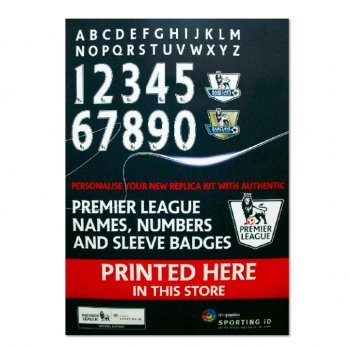 2013 -15 BPL Letters and Numbers 2 No w/Name PS-Pro