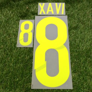 Spain National Team 2014 World Cup (A) Letters and Numbers