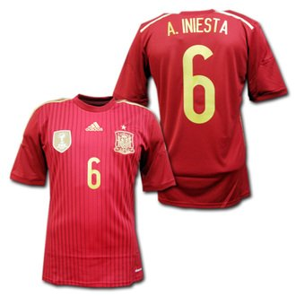 Adida National Team 2014 World Cup Spain (H) S/S G85279 With Name Set
