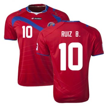 Lotto National Team 2014 World Cup Costa Rica (H) S/S R3813 with #10 RUIZ B.