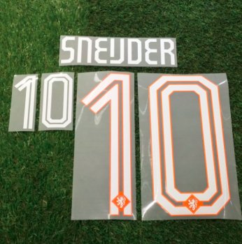Netherlands National Team 2014 World Cup (H) Letters and Numbers