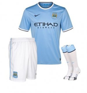 Nike Manchester City 13/14 (H) S/S Infants Set 574857-489