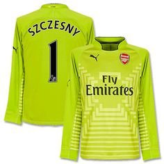 Puma Arsenal 14/15 (A) GK Shirt L/S GN-BK 746377-04 With EPL Name Print