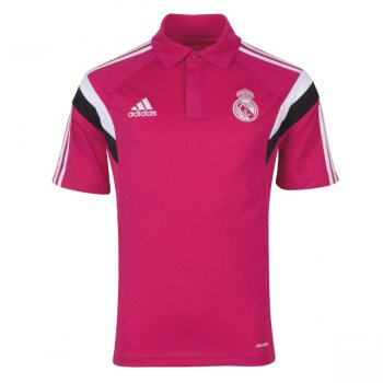 Adidas Real Madrid 14/15 Polo Tee PINK/WHT/BLK F84281