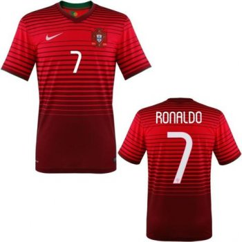 Nike National Team 2014 World Cup Portugal (H) S/S 577986-677 With Name Set