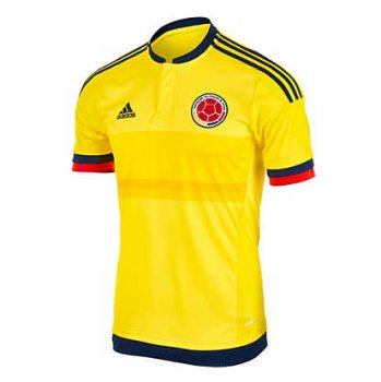 Adidas National Team 2015 Colombia (H) S/S (Bright Yellow/Collegiate Navy)  M62788