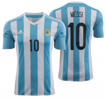 Adidas National Team 2015 Argentina (H) S/S AC0326 With #10 Messi