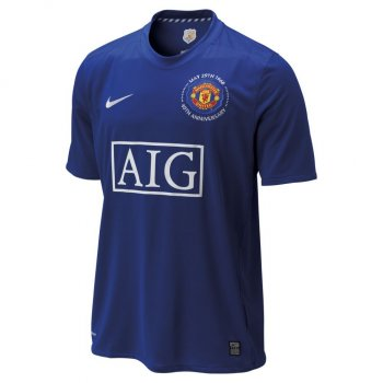 Nike Manchester United 08/09 (3RD) S/S 287615-403 with Champions League Badge