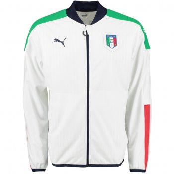 Puma National Team 2016 FIGC Italia Stadium Jacket WHT 748849-03
