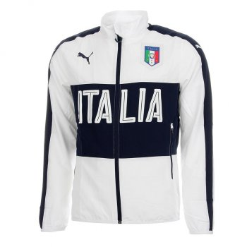 Puma National Team 2016 FIGC Italia Woven Jacket WHT 749394-03