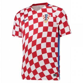 Nike National Team Euro 2016 Croatia (H) S/S Jersey 724602-611 with #10 MODRIC