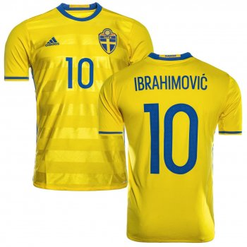 Adidas National Team Euro 2016 Sweden (H) S/S AI4748 With name print #10 Ibrahimovic