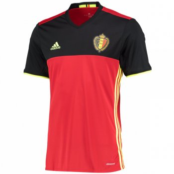 Adidas National Team Euro 2016 Belgium (H) With Nameset S/S AA8744