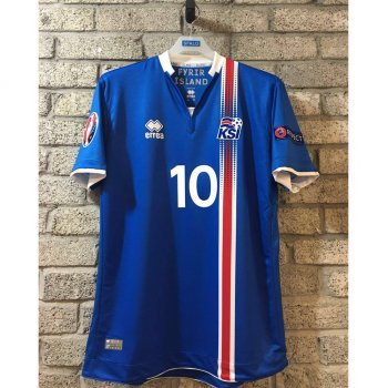 Errea National Team Euro 2016 Iceland (H) S/S With Nameset and Euro 2016 badge