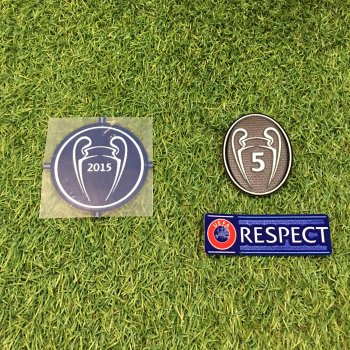 UEFA Champions League 2015 Champion Badge Set for FC Barcelona