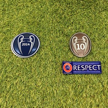 UEFA Champions League 2014 Champion Badge Set for Real Madrid
