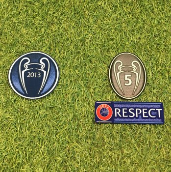 UEFA Champions League 2013 Champion Badge Set for FC Bayern Munich