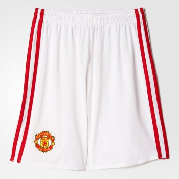 Adidas Manchester United 16/17 (H) Shorts Youth WHT AI6712