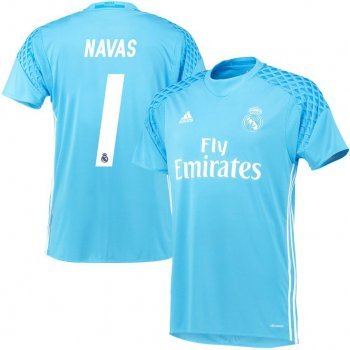 Adidas Real Madrid 16/17 (H) GK BLU AI5175 With Name Set