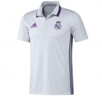 Adidas Real Madrid 16/17 Polo WHT AO3070