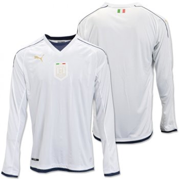Puma National Team Euro 2016 Italy (A) L/S Shirt WHT 749575-04