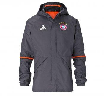 Adidas FC Bayern 16/17 Rain Jacket GRY AO0321