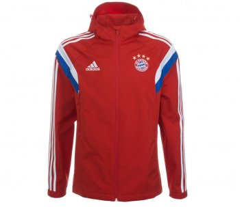 Adidas FC Bayern 14/15 Trav Jacket RD/WHT F49544