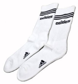 Adidas 3 Stripes Socks WHT/NVY L25433