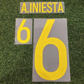 Spain National Team 2016 Euro (H) Letters and Numbers