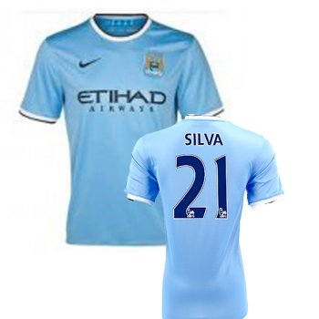 Nike Manchester City 13/14  (H) S/S 574863-489 With Nameset