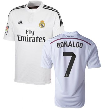 Adidas Real Madrid 14/15 (H) S/S F50637 With #7 Ronaldo