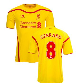Warrior Liverpool 14/15 (A) S/S WSTM404CYL With Nameset