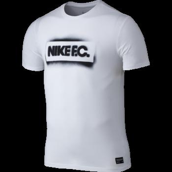 Nike FC Stencil Block Tee WHT 742601-100