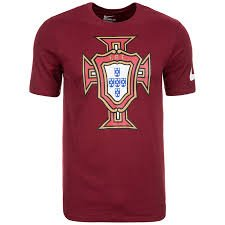 Nike National Team 2016 Portugal Crest Tee Red 742192-677