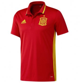 Adidas National Team 2016 Spain Polo Red AI4860