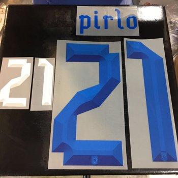 National Team Euro 2012 Italy (A) Letters and Numbers