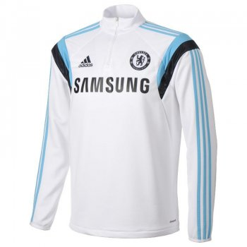 Adidas Chelsea 14/15 Training Top L/S WHT/BU F84112